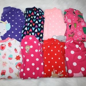 Carter's Footed Pajamas 18 Months - (8) Pair